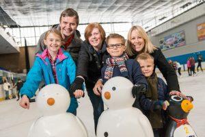 Ice Skating Family at Billingham Forum