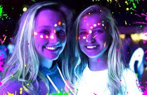 Girls wearing UV Paint - Billingham Forum